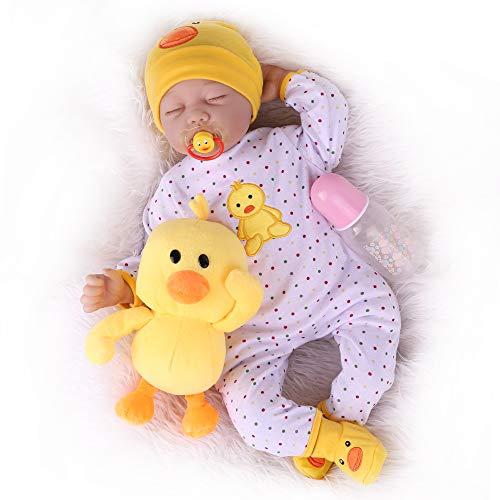 Kaydora Sleeping Reborn Baby Doll, 22 inch Lifelike Weighted Baby Girl