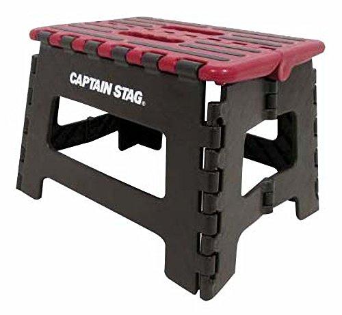 キャプテンスタッグ(CAPTAIN STAG) 踏み台 ステップ 椅子 折りたたみ ステップ Sサイズ レッド UW-1510