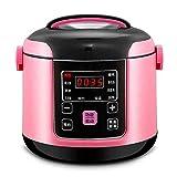 Digitaler Reiskocher, Timer Und Warmhaltefunktion, Antihaft-Pfanne, 2L, 300W, Für 2-3 Personen,Pink