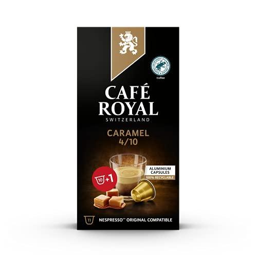 Café Royal Caramel Flavoured Edition Nespresso kompatible Kapseln aus Aluminium - 10+1 Kaffeekapseln Intensität 4/10 - UTZ - Kompatibel mit Nespresso Kaffeemaschinen