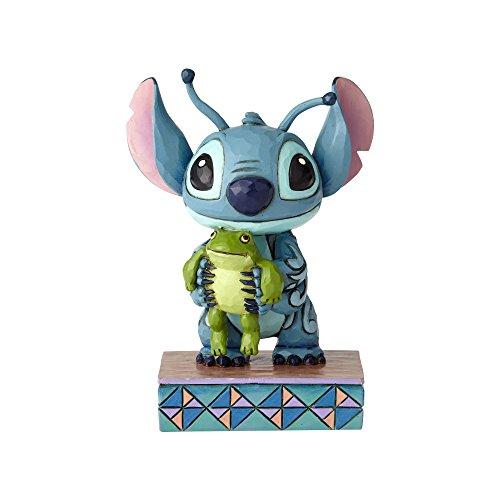 Disney Traditions Disney Traditions Strane Forme di Vita - Stitch con la Rana Figurina, resina, Multicolore, 70x60x100 cm