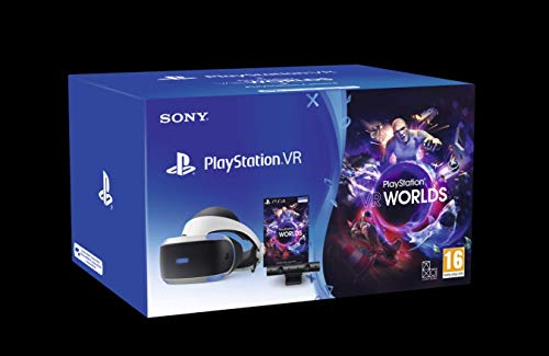 PlayStation 4 - PS VR Mk4 + Camera + Gioco VR Worlds (Voucher) - Bundle Fisico [Importación italiana]
