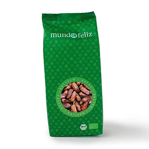 Mundo Feliz - Lot de 2sachets de dattes séchées bio à noyaux, 2x500g