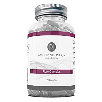 Fibre Complex, 3 Ingredient Formulation Containing Psyllium Husk, Inulin, Lactobacillus Acidophilus 10 Billion, 90 Capsules, Prebiotic, Probiotic, Aid Digestive Health and Function