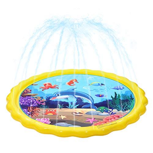 TOYANDONA Spritzspielmatte Sicher Langlebig Spritzschutz ohne Leckage PVC-Sprinkler-Wasserspielzeug Sprinkler-Wasserkissen für Kinder Outdoor-Spielzeug