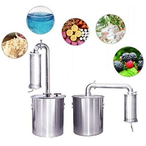 YUEWO 70L Moonshine Stills Alcohol Water Distiller 304 Stainless Steel Wine Making Set