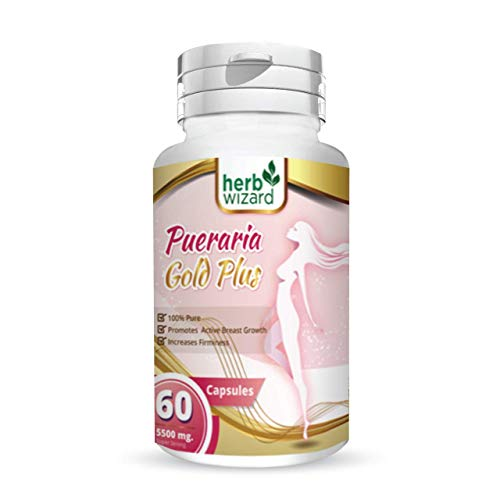 Pueraria Mirifica Capsules 5500mg | Natural Breast Enhancement Pills for Women | Breast Enlargement Pills | Breast Enlarger, Vaginal Health, Menopause Relief, Skin & Hair Health 60 Vegetarian Capsules