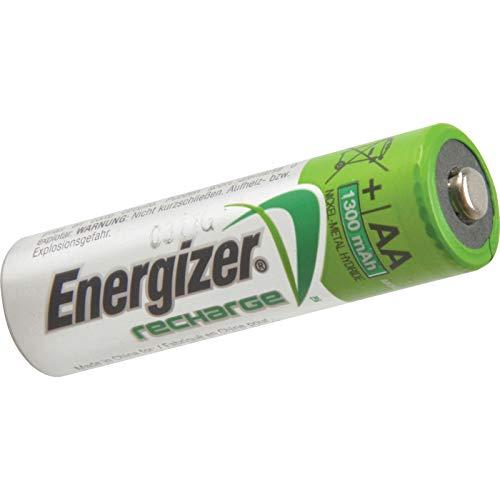 Energizer RCAA1300 - Lote de pilas AA recargables (1300 mAh, 4 unidades)