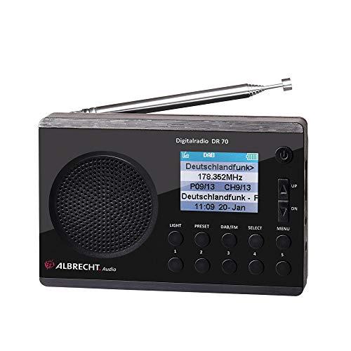 Albrecht 27370 DR70 Digitalradio (DAB+/UKW, 230V, Batteriebetrieb) schwarz