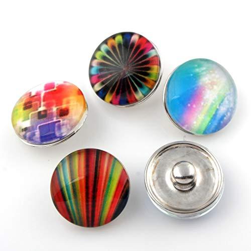 Perlin Juego de 3 botones de presión para mujer, 18 mm, para pulseras, collares, joyas, exóticos, F213