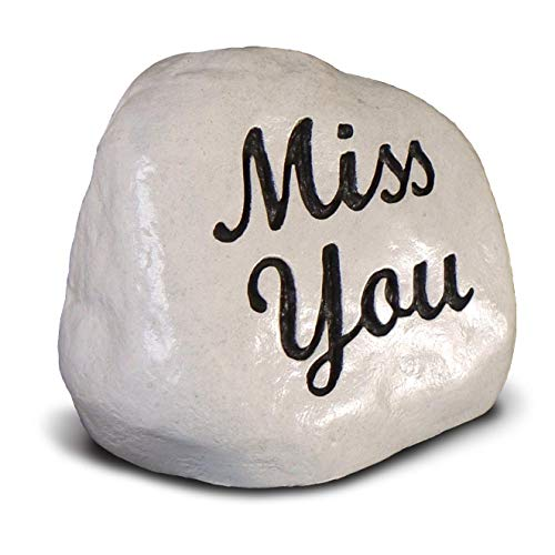 RocksOnly Miss You - Engraved Memorial Stone