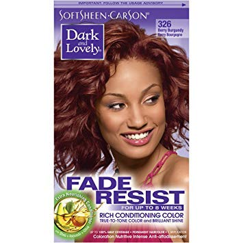 Dark and Lovely Coloration Nutritive Intense Anti-Affadissement Berry Bourgogne Burgundy 326