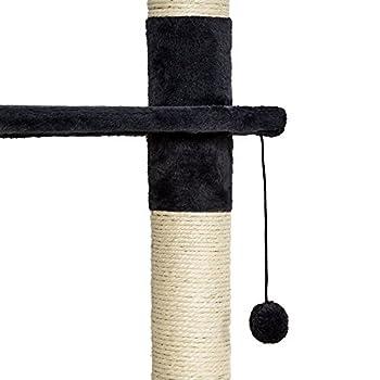TecTake Arbre à Chat XXL grattoir avec différents éléments - Hauteur : env. 240-260cm - diverses Couleurs au Choix (Noir-Blanc | No. 401638)