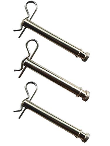 """TS35010 Hitches Tow and Stow Stainless Steel Receiver Replacement for 2"""" & 2.5"""" Hitch Pins Keeper Clips (Set of 3)"""