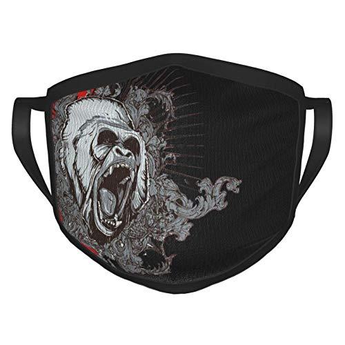 Gesichtsschutz Mundschutz Gesichtsschutzhülle Gesichtsbedeckung Gorilla Bandana Atmungsaktive Halsmanschette Sturmhaube 20 X 15CM