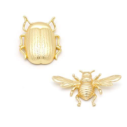 Pack de Dos Broches bisutería Metal (Ver disponibilidad) darle Personalidad a Tus Prendas, atrévete combinando más de uno. (Escarabajo Dorado Avispa Dorada)