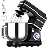 Stand Mixer, 7.5QT Kitchen Electric Food Mixer 10-Speed Tilt-Head Dough Mixer for Baking&Cake, with Stainless Steel Bowl, Whisk, Dough Hook, Beater, Splash Guard (660W)BLACK MC1