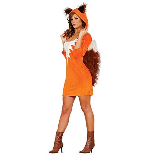 Guirca- Foxy Disfraz Adulta t/38-40 Zorro, Color Naranja (84530)