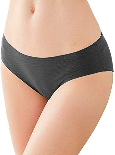 Womens Underwear Seamless 3 Pack, No Show Panties for Women's Boyshorts' Panties Full Coverage no VPL Brief (Medium,Black)