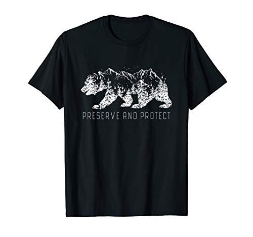 Preserve & Protect Umweltschutz Klimaschutz Bär Silhouette T-Shirt