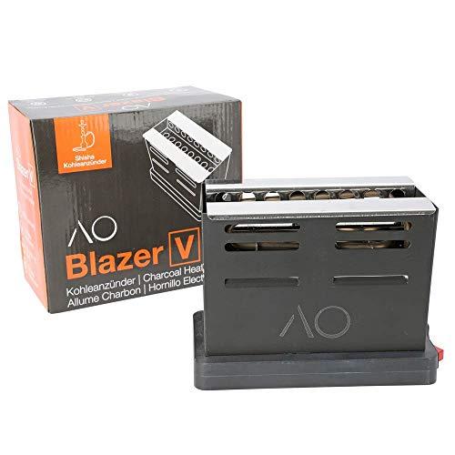 AO Shisha Kohlenanzünder Blazer V Toaster 800W Kohleanzünder für bis zu 6 Kohlen
