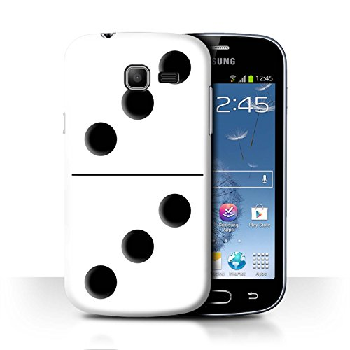 Var voor SGT-CC Domino's/Dominos Samsung Galaxy Trend Lite/S7390 Witte Tegel 3/3