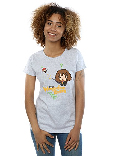 HARRY POTTER Mujer Hermione Granger Wingardium Leviosa Junior Camiseta Small Gris Sport
