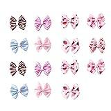 15 STÜCKE Baby Mädchen Rutschfeste Fliege Haarspange Mixed 15 Farbe Kleine Kleinkinder Haarbögen Clips Baby Haarspangen für Säuglings Feines Haar (gelegentliche Farbe)