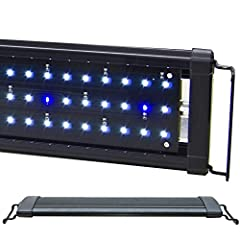 "Lumen: 1050 (22x 10000K, 19x Actinic 460nm) Fixture Dimensions: 17.25"" x 4.75"" x 0.75"" Timer Ready, 2 Mode Day/Night Extendable Suitable for freshwwater, cichlid, tropical fish, FOWLR 1 Year Warranty*"