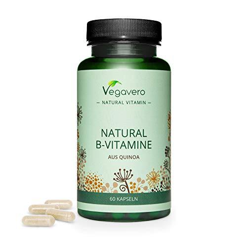 Vitamine B Complex Vegavero®   UNIQUE : 100% NATUREL - Issu de graines de quinoa germées   Avec 8 Vitamines dont B12 + Biotine + Niacine + Thiamine B1   Énergie*   60 Gélules   VEGAN