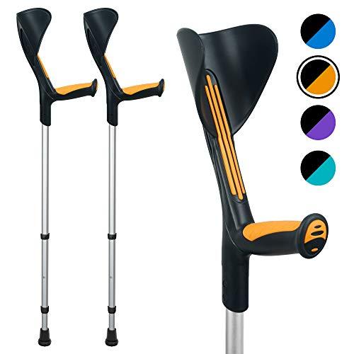 ORTONYX Forearm Crutches 1 Pair - Ergonomic Handle with...