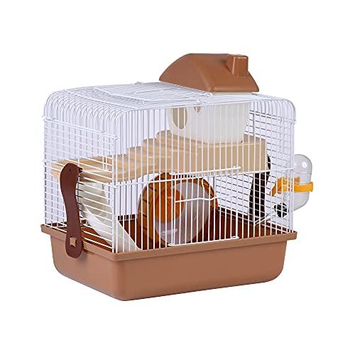 Jaula para Hámster Roborowski Jaula para Hamster 30.1*22.2*28.9CM jaulas Hamsters pequeña Bebedero comedero (S097)
