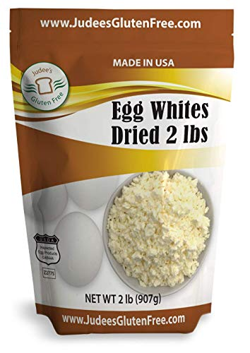 Judee's Dried Egg White Protein 2 lb -Baking, Meringue, Smoothies -Non-GMO, USA Made, USDA Certified -Produced from the Freshest of Eggs