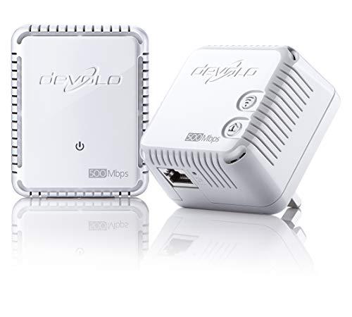 Photo of devolo dLAN 500 Wi-Fi Powerline Starter Kit (2 x PLC Homeplug Adapter, 1 x LAN Port, Wi-Fi Signal Booster, Wireless booster, Wi-Fi Move, whole home wifi, Power Save) – White
