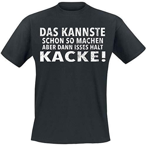 Das kannste schon so machen Männer T-Shirt schwarz XXL 100% Baumwolle Fun-Merch, Sprüche