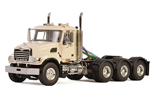 Mack Granite 8X4 4 Axle Tractor Day Cab White 1/50 Diecast Model by WSI Models 33-2018