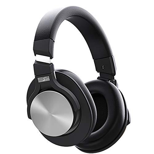 QNSQ draadloze bluetooth-headset, hifi-geluidskwaliteit, actieve subwoofer-gaming headset met ruisonderdrukking, waterdicht ipx4-design met microfoon, size, zwart