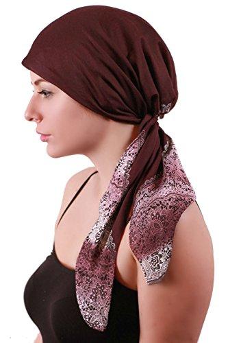 Deresina Headwear Deresina Pre-tie Ultraweiches Kopftuch Aus Baumwolle für Chemotherapie (Mulberry)