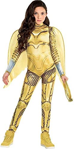 Party City Wonder Woman 1984 Golden Eagle Armor Halloween Costume for Girls Medium 8 10 Includes product image