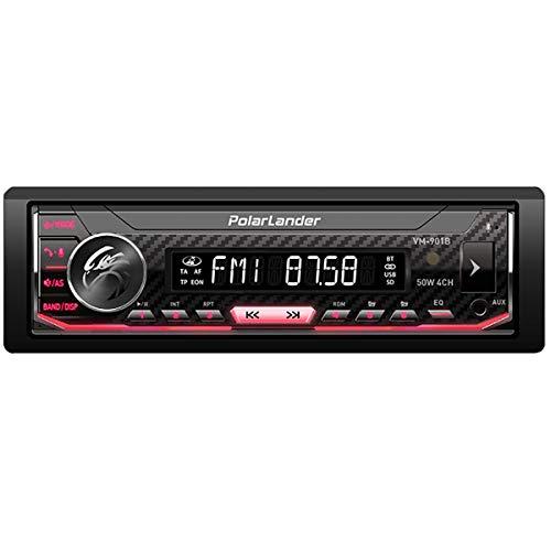 Autoradio, Auto radio Bluetooth, Reproductor de MP3 de coche, Panel de control de voz de panel único extraíble Llamadas con manos libres, Control de APP RDS AM FM USB, Retroiluminación a todo color