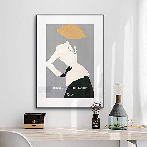 Senza telaio Moderna figura di moda modello tela ng make up Wall Art Pictures POP poster e stampa per soggiorno decorazioni per la casa 60x90cm