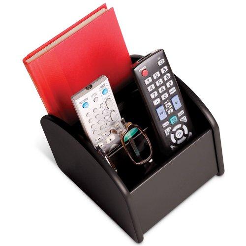 Ralph mando a distancia para TV Spinning Caddy–rotatorio madera valet organizador para la televisión mandos a distancia–negro