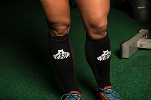Bear Grips:Shin Guard Sleeves, Padded 5mm shin Protection for Rope climbs, Box Jumps, Dead...