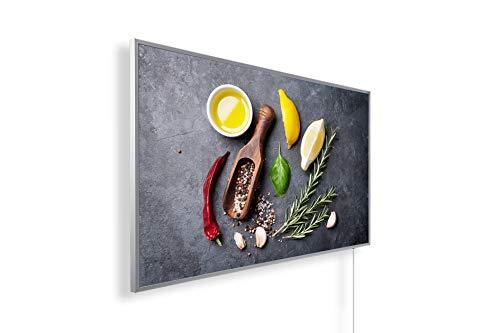 Könighaus Fern Infrarotheizung - Bildheizung in HD Qualität mit TÜV/GS - 200+ Bilder – mit Könighaus Smart Thermostat und APP für IOS/Android - 1000 Watt (171. Kräuter)