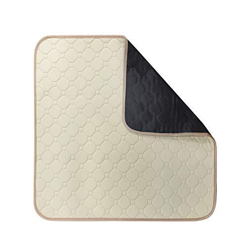 Absorbierende Inkontinenz/Sitzauflage/Stuhlauflage/Waschbar, 51x56 cm mit Antirutsch auf der Rückseite, Auflage für Sofa, Rollstuhl, Autositz (Beige)