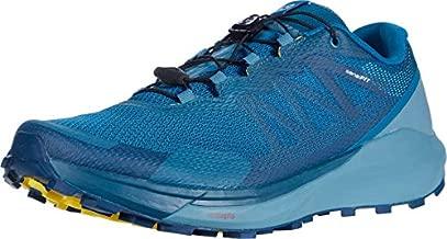 Salomon Men's Sense Ride 3 Trail Running, Lyons Blue/Smoke Blue/Lemon Zest, 14