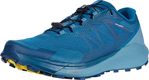 Salomon Men's Standard Hiking Shoe, Lyons Blue/Smoke Blue/Lemon Zest, 10