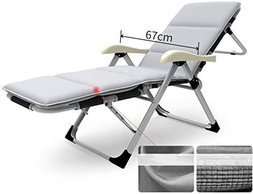 FTFTO Büro -Leben Folding Sunbed,Klappliegestuhl,Reclining Gartenstuhl,Solarium mit Abnehmbarer Beinlehne neigungsverstellbare Kopfstütze (Größe: 13)