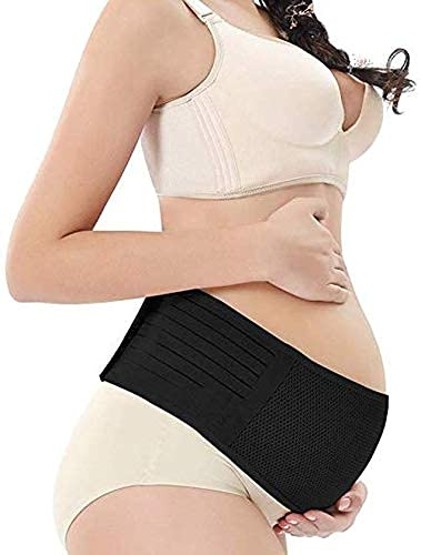 GET FIT Advanced Maternity Support Belt Before Delivery Pregnancy Support Belt Before delivery Abdomen Band, Belly Brace Universal Size Colour - Black