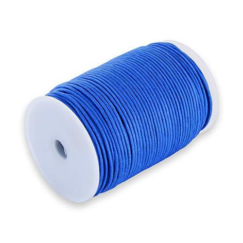 Auroris Cordon Coton 100 M, 2 mm, Bleu